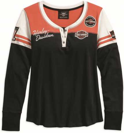 H-D Motorclothes Harley-Davidson Women's Classic Colorblock Henley  - 99075-18VW