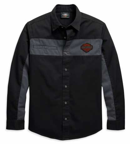 H-D Motorclothes Harley-Davidson Shirt Colorblock black/grey  - 99081-20VM