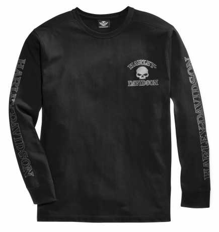 H-D Motorclothes Harley-Davidson Skull Long Sleeve Tee, black M - 99091-14VM/000M
