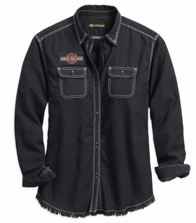 H-D Motorclothes Harley-Davidson Women's Studded Raw Hem Shirt  - 99102-18VW