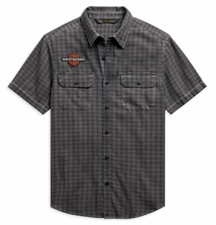 H-D Motorclothes Harley-Davidson Plaid Shirt Vintage Logo grey  - 99102-20VM