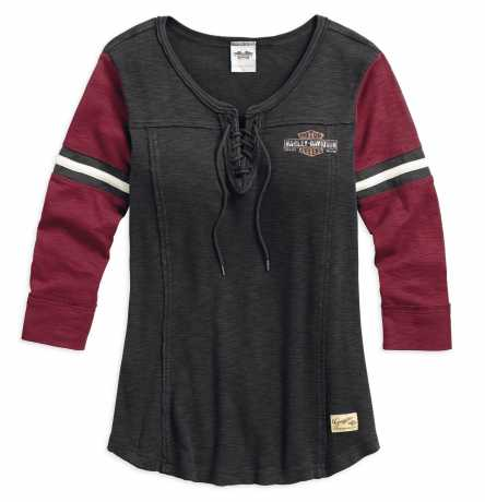 H-D Motorclothes H-D Women's Genuine Laced Neckline Tee S - 99105-17VW/000S