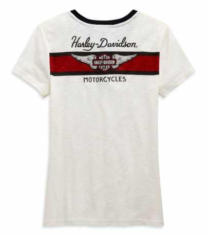 H-D Motorclothes Harley-Davidson Damen Henley T-Shirt Winged Off-White XL - 99120-20VW/002L