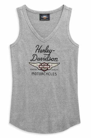 H-D Motorclothes Harley-Davidson Tank Top Winged Logo V-Neck grey  - 99123-20VW