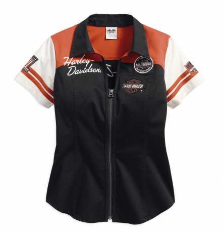 H-D Motorclothes Harley-Davidson Damen Zip-Shirt Classics Colorblock 2W - 99170-17VW/002W
