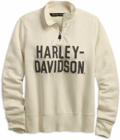 H-D Motorclothes Harley-Davidson Damen 1/4-Zip Sweatshirt Felt Letter antique weiß  - 99224-19VW