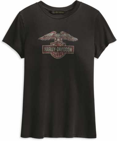 H-D Motorclothes Harley-Davidson Women´s T-Shirt Distressed Eagle black  - 99231-19VW