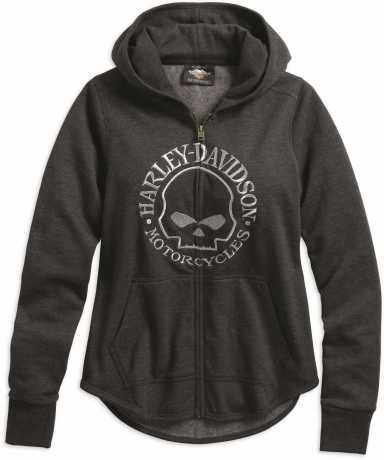 H-D Motorclothes Harley-Davidson Damen Zip-Hoodie Metallic Skull  - 99239-19VW