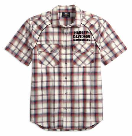H-D Motorclothes Men's Upright Eagle Plaid Shirt L - 99266-19VM/000L