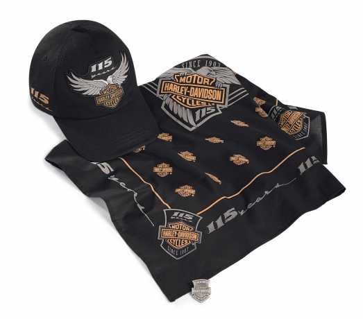 H-D Motorclothes Harley-Davidson 3-teiliges Ride Pack 115th Anniversary  - 99404-18VM