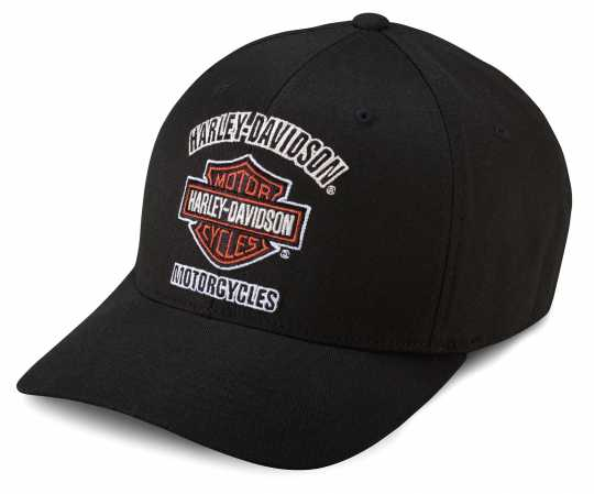 H-D Motorclothes Harley-Davidson Traditional Logo Stretch Cap, black L - 99408-16VM/000L