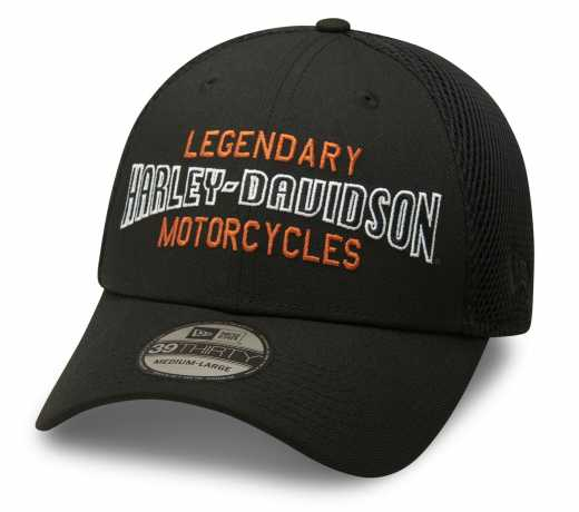 Harley-Davidson Baseball Cap Legendary Motorcycles 39THIRTY® schwarz