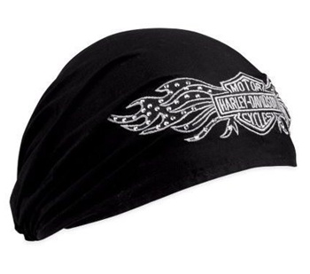 H-D Motorclothes Harley-Davidson Headwrap Winged Bar & Shield, schwarz  - 99449-10VW