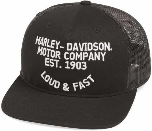 H-D Motorclothes Harley-Davidson Trucker Cap Loud & Fast Flat Brim  - 99468-19VM