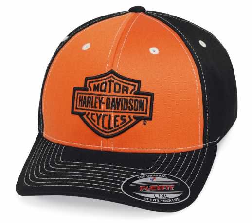H-D Motorclothes Harley-Davidson Baseball Cap Colorblock orange/schwarz  - 99469-19VM