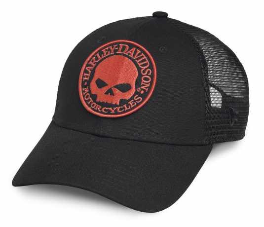 H-D Motorclothes Harley-Davidson Trucker Cap Orange Skull  - 99491-17VM