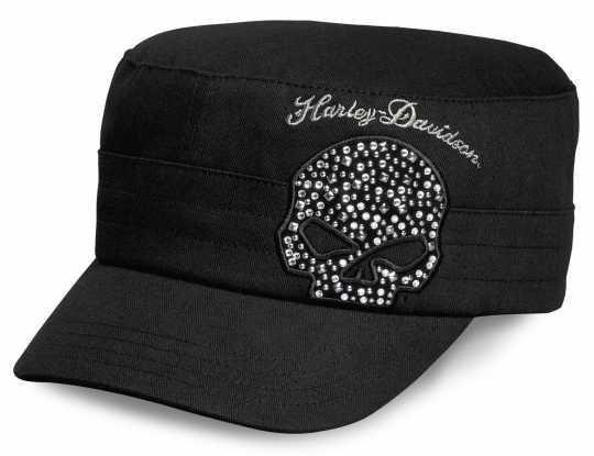 H-D Motorclothes Harley-Davidson Flat Top Cap Crystal Skull schwarz  - 99556-16VW