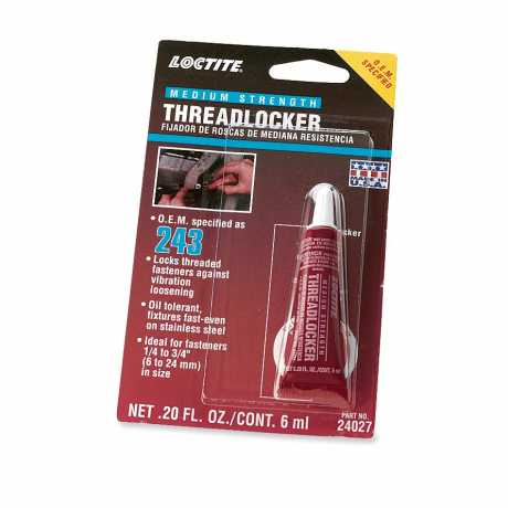 Loctite Loctite 243 Threadlocker and Sealant - Blue  - 99642-97