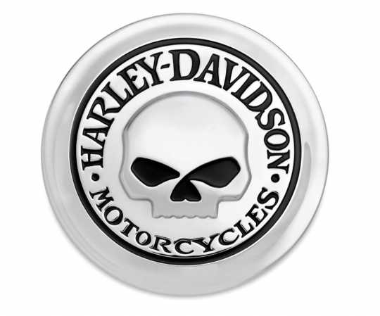 Harley-Davidson Fuel Cap Medallion Willie G Skull  - 99669-04