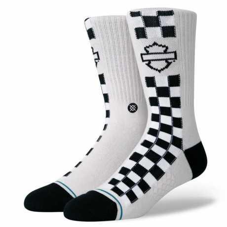 H-D Motorclothes Harley-Davidson Socken Side Check schwarz & weiß  - A556A20HAS