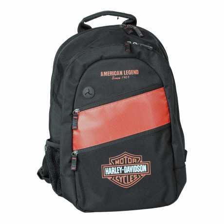 harley davidson day pack backpack orange black at. Black Bedroom Furniture Sets. Home Design Ideas