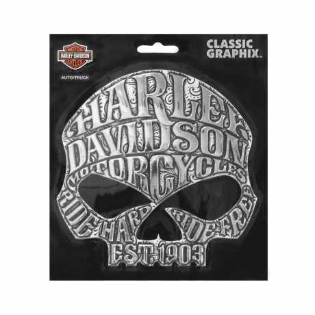 H-D Motorclothes Harley-Davidson Decal Classic Skull  - CG26006