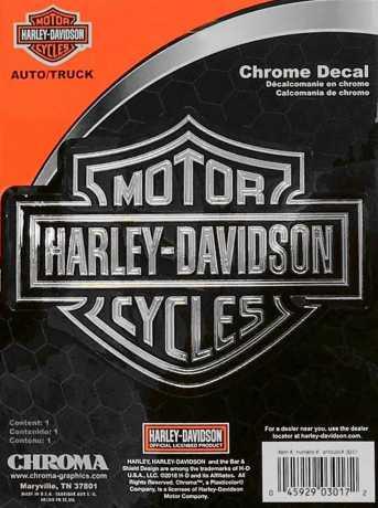 H-D Motorclothes Harley-Davidson Aufkleber Chroma Classic Graphix Silver B&S  - CG3017