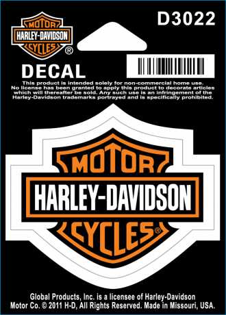 H-D Motorclothes Harley-Davidson Decal Bar & Shield Outdoor, small  - D3022