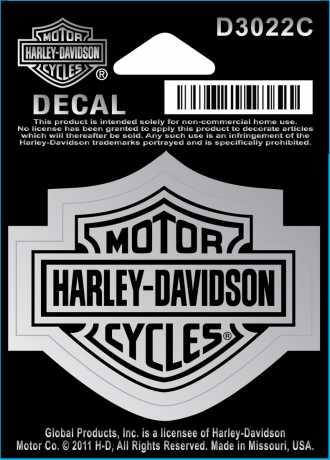 H-D Motorclothes Harley-Davidson Aufkleber Bar & Shield, chrom / klein  - D3022C
