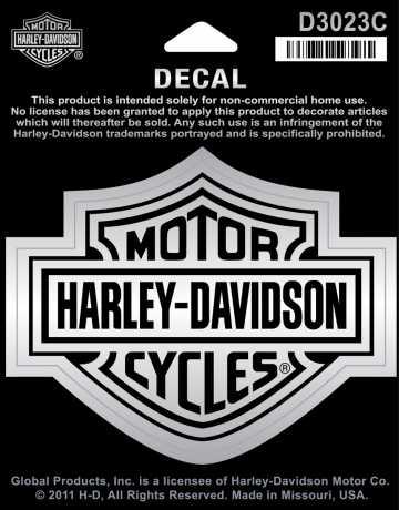 H-D Motorclothes Harley-Davidson Decal Bar & Shield, chrome / medium  - D3023C