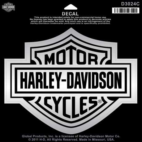 H-D Motorclothes Harley-Davidson Decal Bar & Shield, large / chrome  - D3024C
