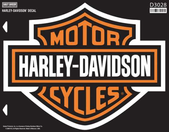 H-D Motorclothes HArley-Davidson Decal Bar & Shield, XXL  - D3028