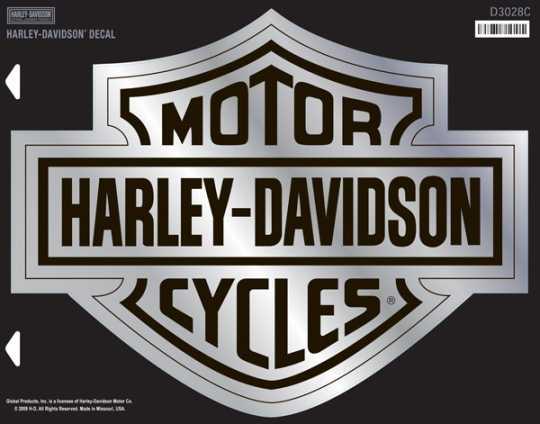 H-D Motorclothes HArley-Davidson Decal Bar & Shield, XXL / chrome  - D3028C