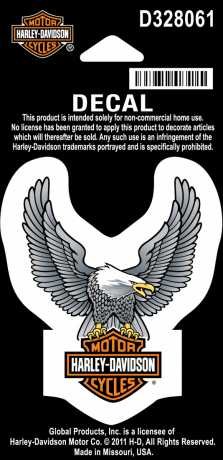 H-D Motorclothes Harley-Davidson Decal Upwing Eagle  - D328061
