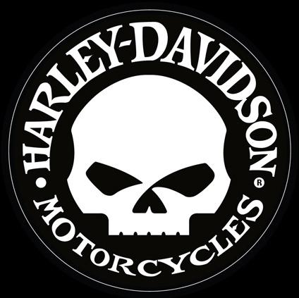 H-D Motorclothes Harley-Davidson Aufkleber Hubcap Skull  - DC1029302