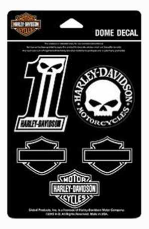 H-D Motorclothes Harley-Davidson Decal Sheet Midnight  - DC1246