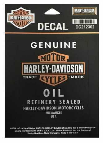 H-D Motorclothes Harley-Davidson Aufkleber Genuine Oil klein  - DC212302