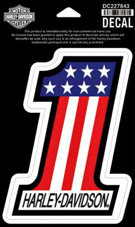 H-D Motorclothes Harley-Davidson Decal #1 Red/White/Blue,MD  - DC227843