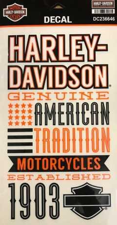 H-D Motorclothes Harley-Davidson Aufkleber Set Stack Decals  - DC236646