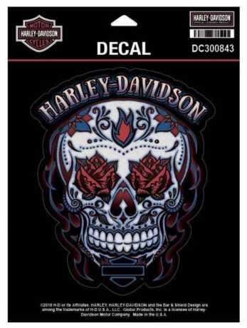 H-D Motorclothes Harley-Davidson Aufkleber Muertos Skull  - DC300843