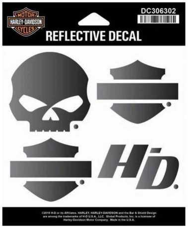 H-D Motorclothes Harley-Davidson Decals, Reflective Night Rider  - DC306302