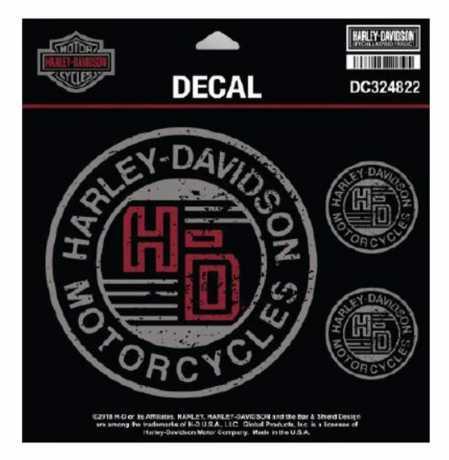 H-D Motorclothes Harley-Davidson Aufkleber Forged Circle klein  - DC324822