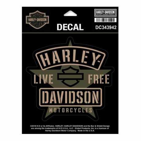 H-D Motorclothes Harley-Davidson Aufkleber Resolute  - DC343942