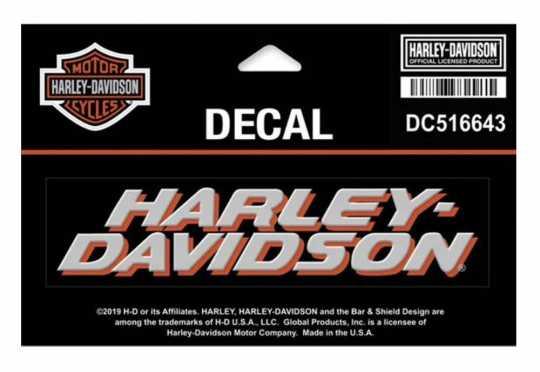 H-D Motorclothes Harley-Davidson Aufkleber Schriftzug  - DC516643