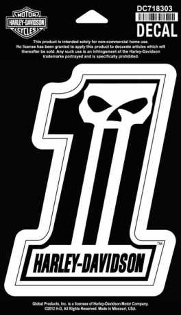 H-D Motorclothes Harley-Davidson Decal #1 Skull, medium  - DC718303