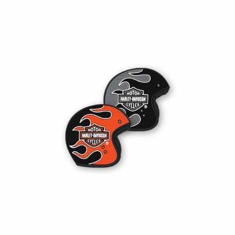 H-D Motorclothes Harley-Davidson Magnet Set Flaming Helme  - DM33264