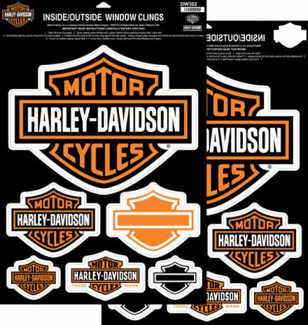 H-D Motorclothes Harley-Davidson Window Cling Sheet  - DW302