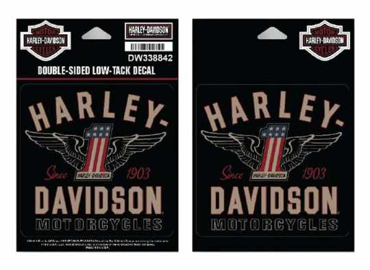 H-D Motorclothes Harley-Davidson Decal Set #1 Wings (2)  - DW338842