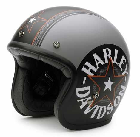 Harley-Davidson Helm Grey Star Retro 3/4