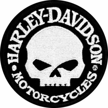 H-D Motorclothes Harley-Davidson Patch Hubcap Skull  - EM 1029882